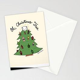 Xmas Tree + Me = Lit Up! Stationery Cards