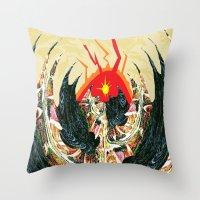 dragon Throw Pillows featuring  Dragon  by Shane R. Murphy