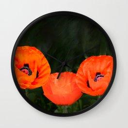 Oriental poppies Wall Clock