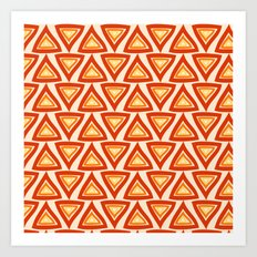 Orange Red Triangles Art Print