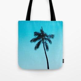 palm tree ver.skyblue Tote Bag