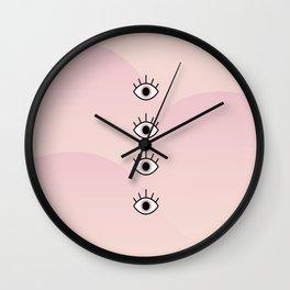 4 Seeing Eyes Wall Clock