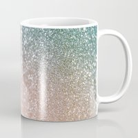 bisexual Mugs featuring Rose quartz glitter  by Better HOME