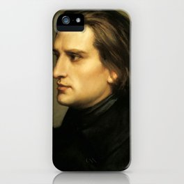 Franz Liszt (1811-1886) at 29. Painting by Charles Laurent Marechal (1801-1887). iPhone Case