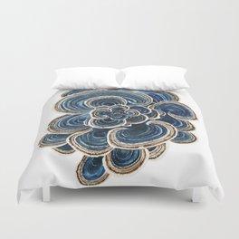 Blue Trametes Mushroom Duvet Cover
