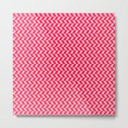 Light Red Pattern Metal Print