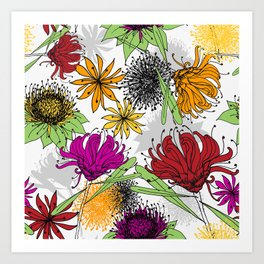 Aussie Floral - by Kara Peters Art Print