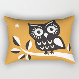 Cute Night Owl Illustration Rectangular Pillow