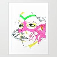 bjork Art Prints featuring Bjork by Taylor Vanseveran