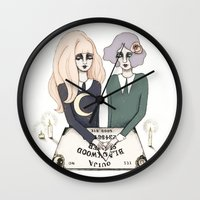ouija Wall Clocks featuring Ouija by Bunny Miele
