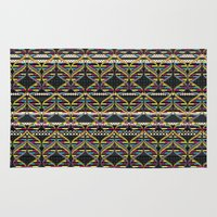 dna Area & Throw Rugs featuring Pattern DNA by Amanda Dilworth