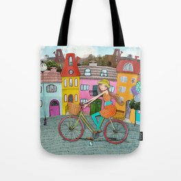 Bicycle and Balloons Tote Bag