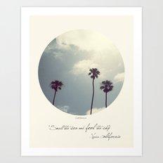 Feel The Sky Art Print