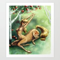 Applejack Centaur Art Print