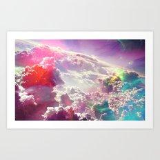 Clouds #galaxy Art Print