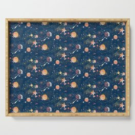 Painted Space Serving Tray