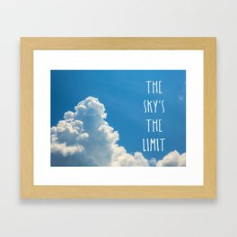 Sky's the limit - cloudscape Framed Art Print