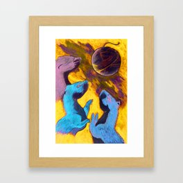 Three Tweasel Moon Framed Art Print