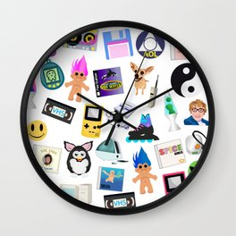 Bring Back the 90's Wall Clock
