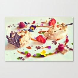Peach tiramisu :) Canvas Print