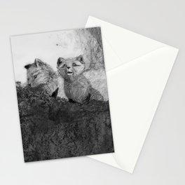 Fox Kits Sketch Stationery Cards