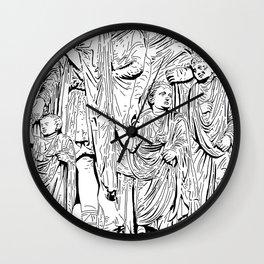 stencil frieze children Wall Clock