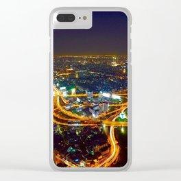 Bangkok Night Skyline Clear iPhone Case