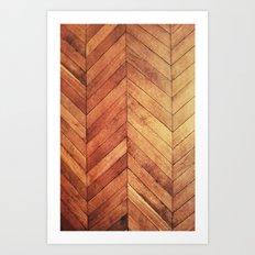 3D Wood  Art Print
