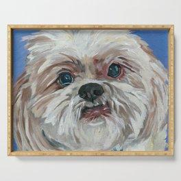 Ruby the Shih Tzu Dog Portrait Serving Tray