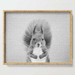 Squirrel 2 - Black & White Serving Tray