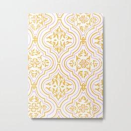 Oriental Pattern - Pink Metal Print