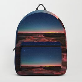 Bisti Badlands Hoodoos Under New Mexico Stary Night Backpack