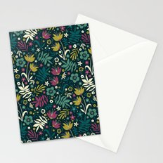 Midnight Florals (pop) Stationery Cards