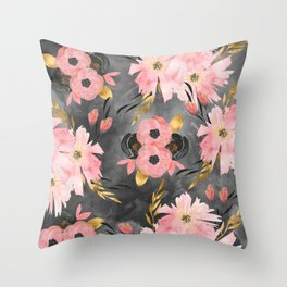 Night Meadow Throw Pillow