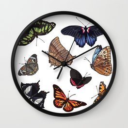 Butterfly Sticker Collection Wall Clock