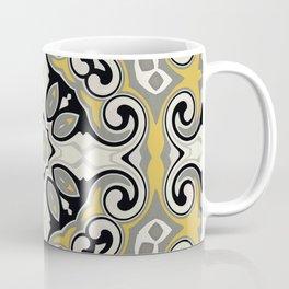 Edwardian Geo Yellow Grey Coffee Mug