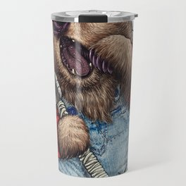 Sleepy LumberJack Bear Travel Mug
