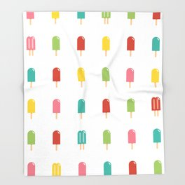 Popsicle - Retro #754 Throw Blanket
