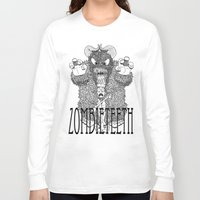 bigfoot Long Sleeve T-shirts featuring Bigfoot by Iamzombieteeth Clothing