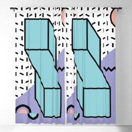 Memphis Pattern - 80s Retro - Pastel Colors Blackout Curtain