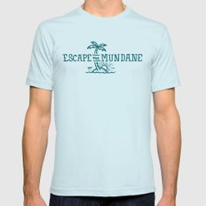 Escape the Mundane X-LARGE Light Blue Mens Fitted Tee