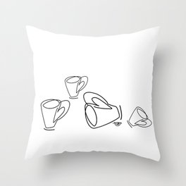 Cuppa Candor [Ivory] Throw Pillow