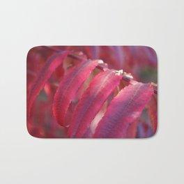 Radiant Red Sumac Leaves Bath Mat