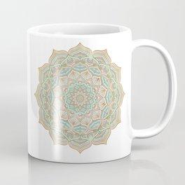 Mystic mandala - blue and gold Coffee Mug
