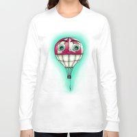 baloon Long Sleeve T-shirts featuring Acrophobia Baloon by Tayler Kiiim