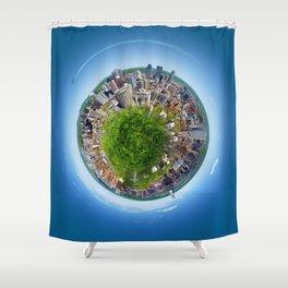 Planète MTL Shower Curtain