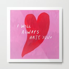 Love and Heart, Valentine's Day Greeting Card Metal Print