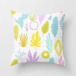 Neon Plants Throw Pillow