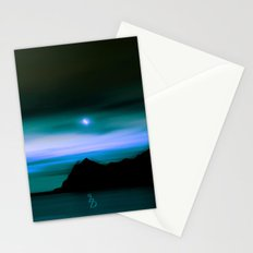 Moonlit Water color Stationery Cards