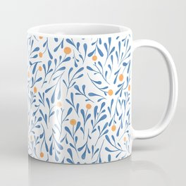 Winter Blossom blue Coffee Mug